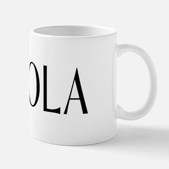 Viola with Alto Clef in Black & White Mug