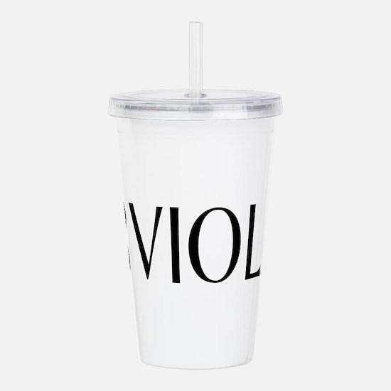 Viola with Alto Clef i Acrylic Double-wall Tumbler