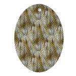 Owl Feathers Oval Ornament