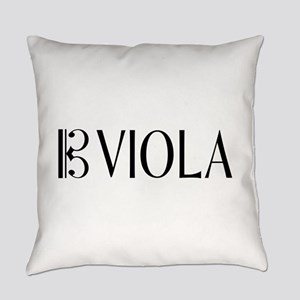 Viola with Alto Clef in Black & Wh Everyday Pillow