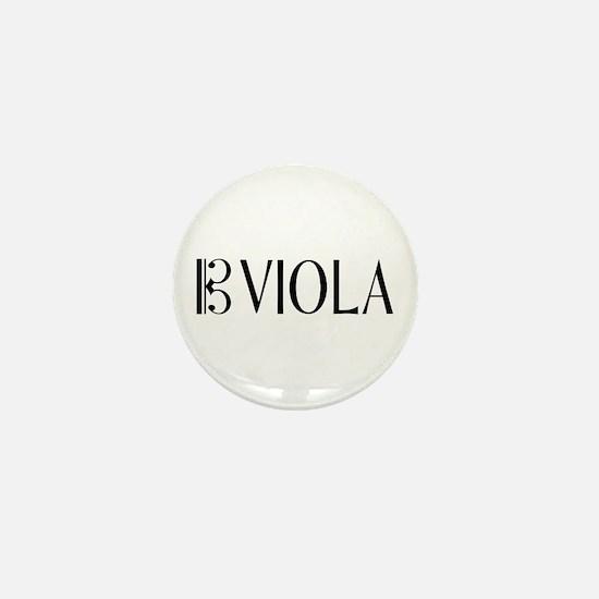 Viola with Alto Clef in Black & White Mini Button