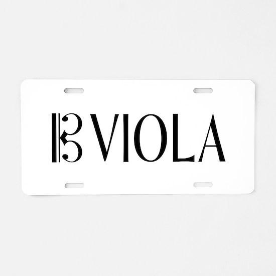 Viola with Alto Clef in Bla Aluminum License Plate