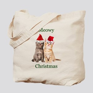 Meowy Christmas Kitten Tote Bag
