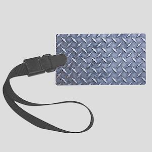 Steel Diamond Pattern Metal Grating Luggage Tag
