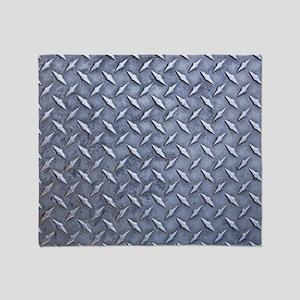 Steel Diamond Pattern Metal Grating Throw Blanket