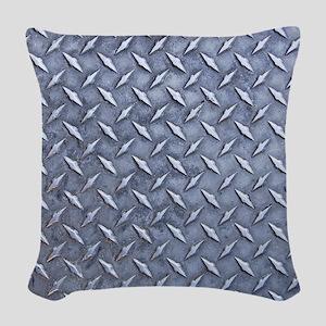 Steel Diamond Pattern Metal Grating Woven Throw Pi