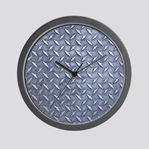 Steel Diamond Pattern Metal Grating Wall Clock