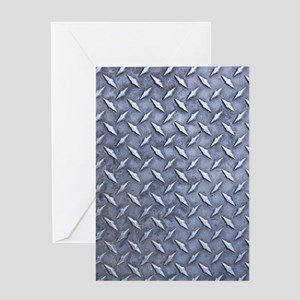 Steel Diamond Pattern Metal Grating Greeting Card