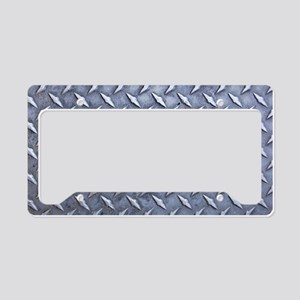 Steel Diamond Pattern Metal Grating License Plate