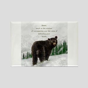 Black Bear Animal totem Inspirational Spir s Magne