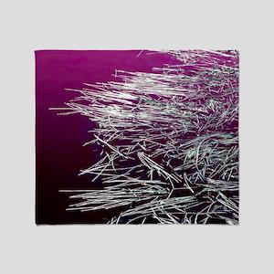 Purple Water, Silver Reeds Throw Blanket