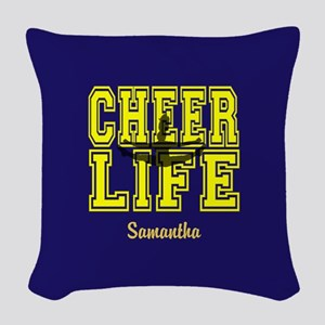 Cheerleader personalized Woven Throw Pillow