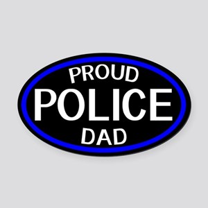 Police: Proud Dad (The Thin Blue L Oval Car Magnet