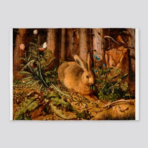 A Hare in the Forest by Hans Hoffmann 5'x7'Area Ru