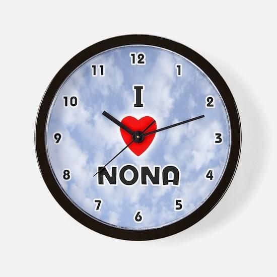 I Love Nona (Black) Valentine Wall Clock