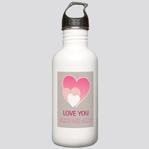 Three Hearts Love You Stainless Water Bottle 1.0L