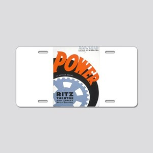 Vintage poster - Power Aluminum License Plate