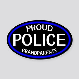 Police: Proud Grandparents (The Th Oval Car Magnet