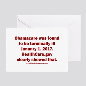 Terminally ill greeting cards cafepress obamacare was terminally ill greeting card m4hsunfo