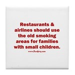 Recycle Smoking Section Tile Coaster