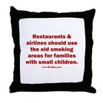 Recycle Smoking Section Throw Pillow