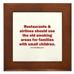 Recycle Smoking Section Framed Tile