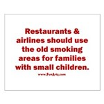 Recycle Smoking Section Small Poster
