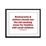 Recycle Smoking Section Framed Panel Print