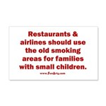Recycle Smoking Section 20x12 Wall Decal