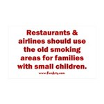 Recycle Smoking Section 35x21 Wall Decal