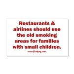 Recycle Smoking Section Car Magnet 20 x 12