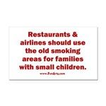 Recycle Smoking Section Rectangle Car Magnet