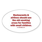 Recycle Smoking Section Sticker (Oval)