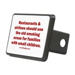 Recycle Smoking Section Rectangular Hitch Cover