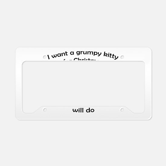 Grumpy Kitty for Christmas License Plate Holder