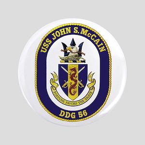 "USS John S. McCain DDG 56 3.5"" Button"