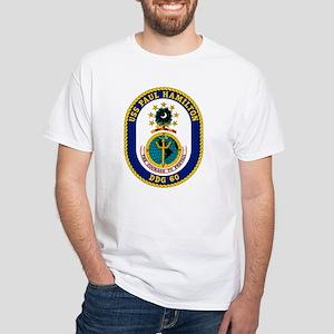 USS Paul Hamilton DDG 60 White T-Shirt