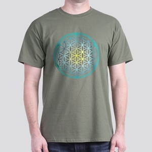 Flower of Life - Aqua Dark T-Shirt