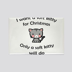 Soft Kitty for Christmas Magnets