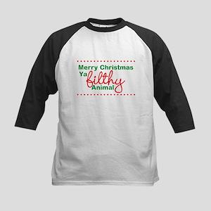 Merry Christmas Ya Filthy Animal Baseball Jersey