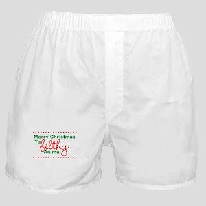 Merry Christmas Ya Filthy Animal Boxer Shorts