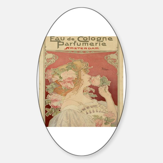 Unique Vintage advertisement Sticker (Oval)