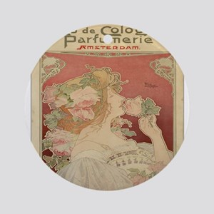 Vintage poster - Parfumerie Round Ornament