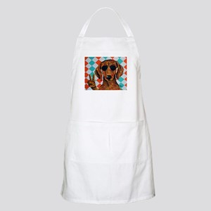 Dachshund Peace Sign Apron