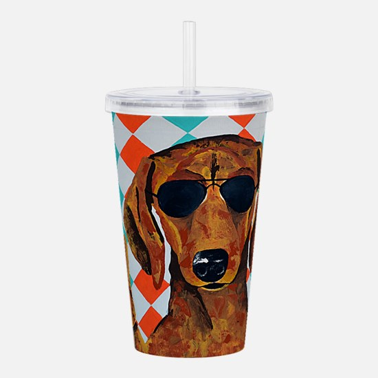 Dachshund Peace Sign Acrylic Double-wall Tumbler