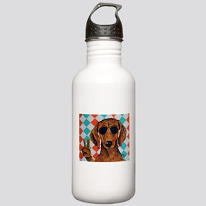 Dachshund Peace Sign Water Bottle