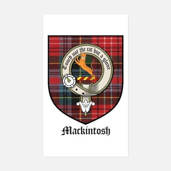 Mackintosh Clan Crest Tartan Rectangle Decal
