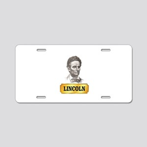 gold tab abe in youth Aluminum License Plate