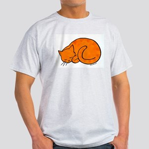 Orange Sleeping Ca T-Shirt