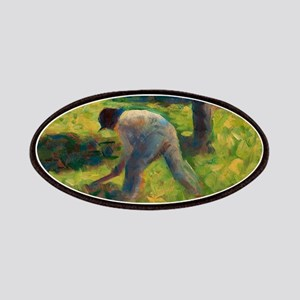 Peasant with a Hoe by Georges Seurat Patch